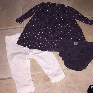 Gap tunic set - 3 piece set star print 6-12 month